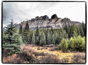 Art Filter-Castle Mountain view, Bow Valley Parkway