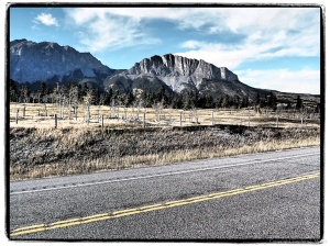 Art Filter view #5 Yamnuska, Bow Valley Parkway