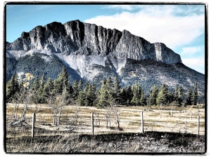 Art Filter view #6 Yamnuska, Bow Valley Parkway