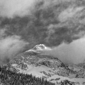 Mount Sir Donald peaks through the cloud llecillewaet Valley, Rogers Pass- photo courtesy of Mark Klassen