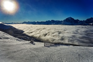 Beautiful View. Top of the Summit T-Bar, Lake Louise