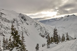 The sun breaks through- Lookout Col, Rogers Pass