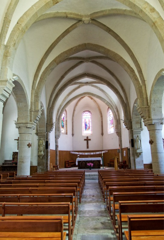 Church interior, Le Bleymard