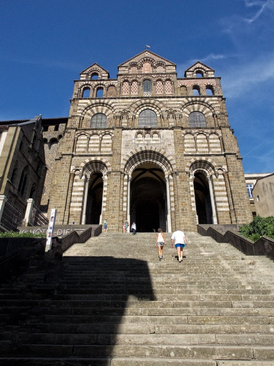 Glenn and Maysan climb towards a religious experience Le Puy Cathedral (Cathédrale Notre-Dame du Puy)