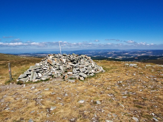 The summit of Mont Lozere, 1699 m