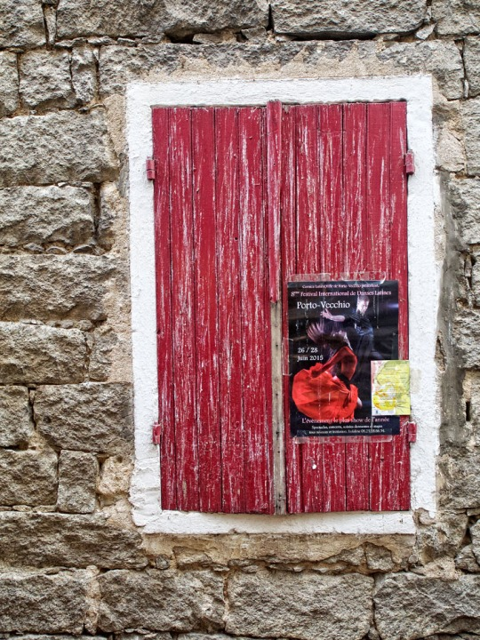 Window and poster scene, Porto-Vecchio