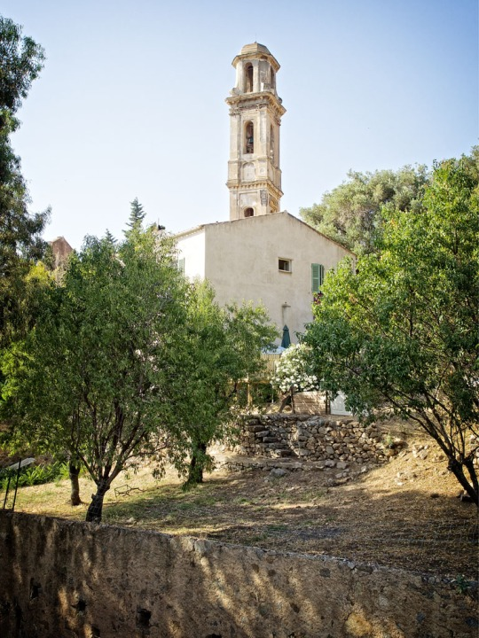 Church exterior, near the start of our hike, Calvi