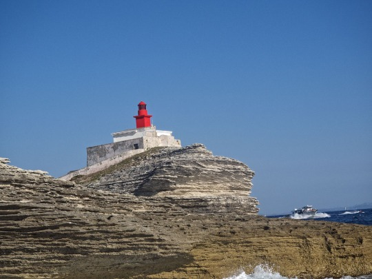 Lighthouse near Bonifacio while sailing