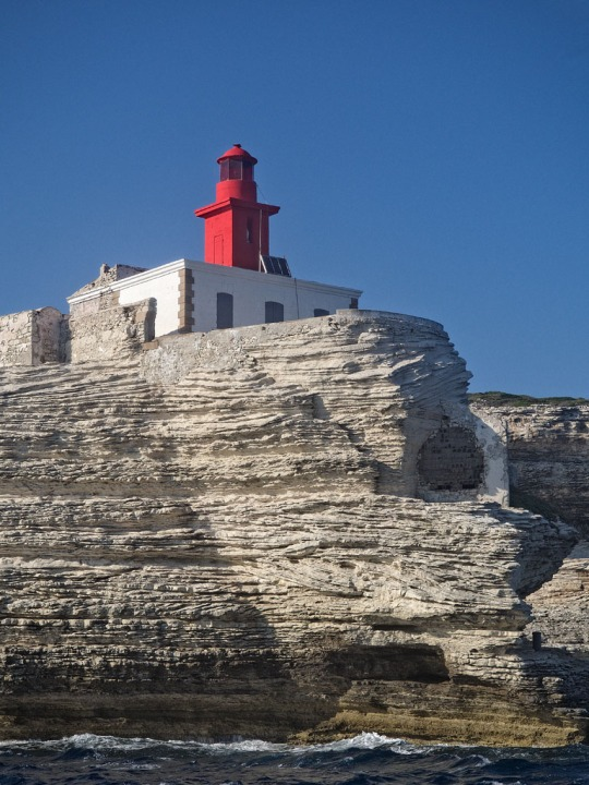 Lighthouse near Bonifacio while sailing, yet another view