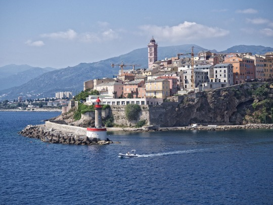 View of Genoa, Italy harbour