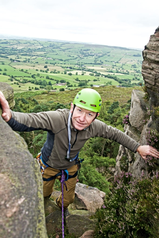 Richard at the top, The Roaches England