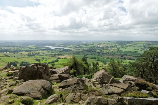 Beautiful views over England, The Roaches