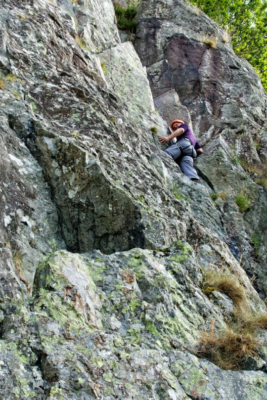 Steve climbing Little Chamonix, The Lake District England