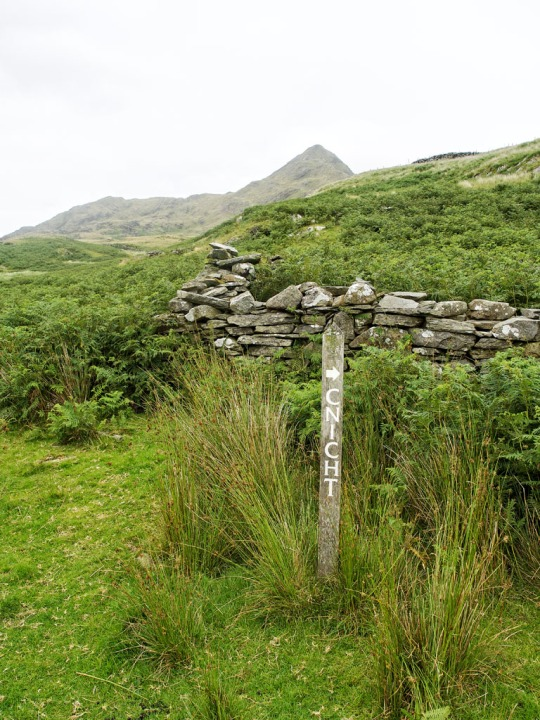 Cnicht trail sign, Snowdonia Wales