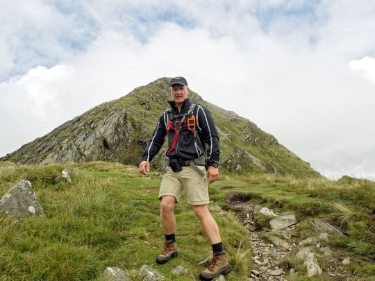 Steve approaching the summit of Cnicht, Wales