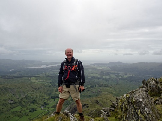 Steve on the summit of Cnicht, Wales