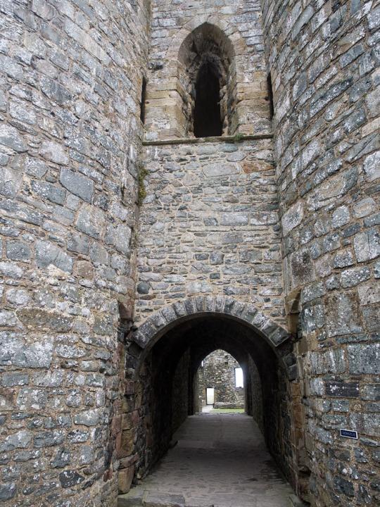 Harlech Castle entrance, Harlech Wales