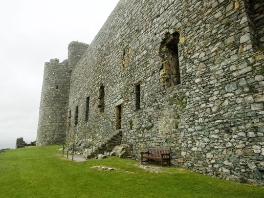 Harlech Castle exterior, Harlech Wales
