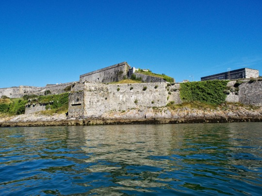 View of the Royal Citadel on Plymouth Hoe from the Plymouth harbour