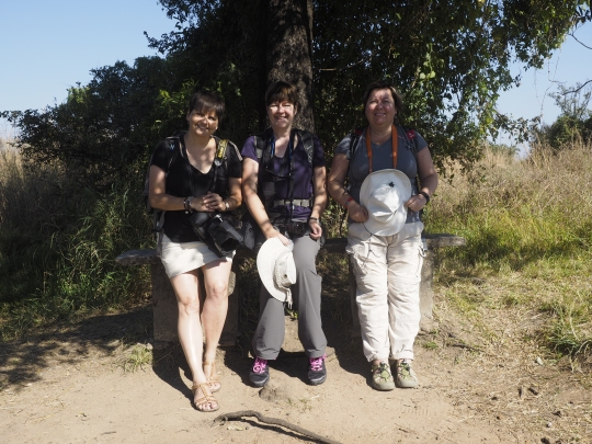 Three lovely ladies (Teresa, Lorraine and Anna left to right)- Victoria Falls, Zimbabwe Africa