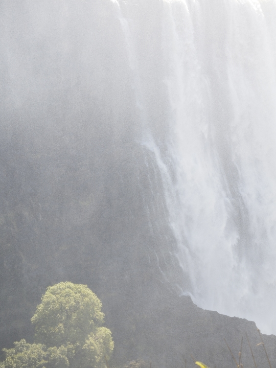 Misty view Victoria Falls, Zimbabwe Africa
