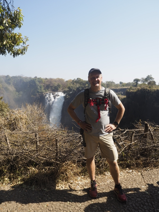 Steve posing- Victoria Falls, Zimbabwe Africa