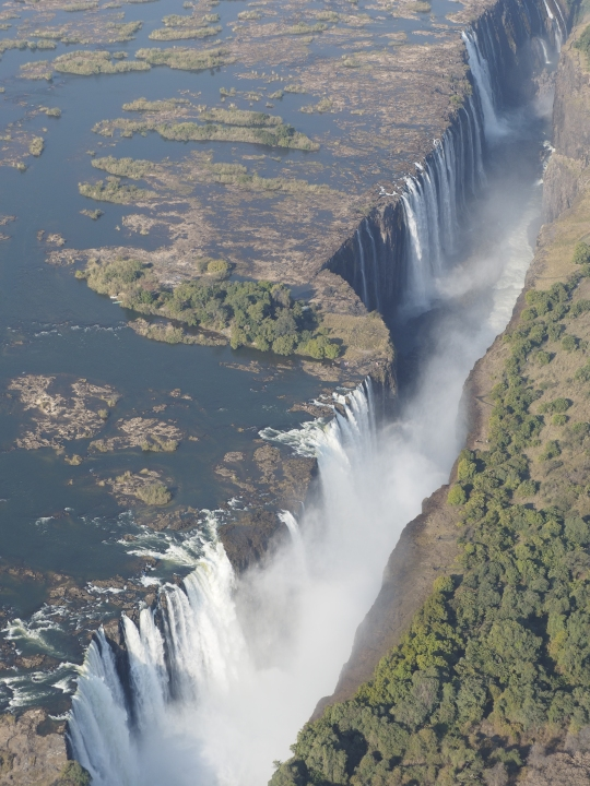 Aerial view- Victoria Falls, Zimbabwe Africa